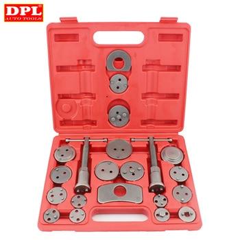 цена на 21pcs/Set Universal Car Disc Brake Caliper Rewind Back Brake Piston Compressor Tool Kit Set For Automobiles Garage Repair Tools