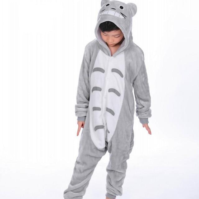 61810f0b28 My Neighbor Totoro Flannel Kigurumi For Children Kid s Cartoon Onesies  Pajamas Cosplay Costume Clothing For Halloween Carnival