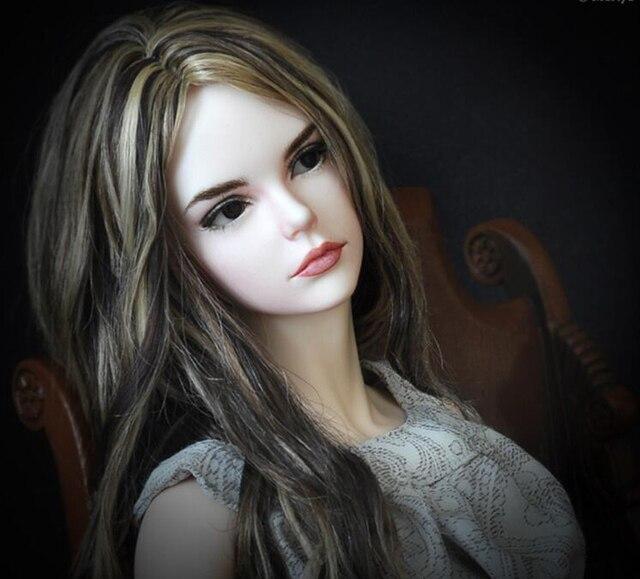 HeHeBJD 1/3 فتاة جميلة فيرا عيون حرة الراتنج نموذج ألعاب عالية الجودة