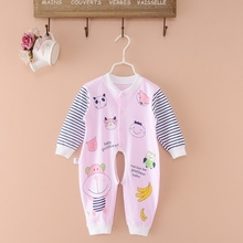 Spring/Autumn Cute Animal Romper Long Sleeve Romper For Baby Boy Pure Cotton Unisex Baby Rompers Newborn Baby Clothes(China)