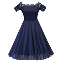 Short Party Dresses Navy Blue Chiffon Lace Short Sleeves Homecoming Dresses New Arrival Girls A line Sexy Graduation Dresses