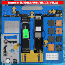 Płytka PCB uchwyt Jig oprawa stacja robocza dla iPhone XR/8P/8/7P/7/6SP/6S/SE/6P/6/5S/5 Logic Board A7 A12 naprawa uszkodzeń od uderzeń kamieni
