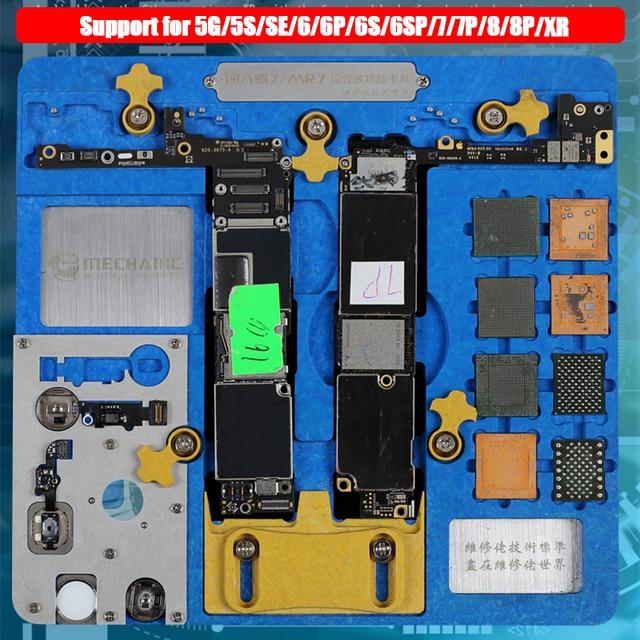 لوحة الدوائر PCB حامل تهزهز تركيبات محطة العمل آيفون XR/8P/8/7P/7/6SP/6S/SE/6P/6/5s/5 المنطق المجلس a7 A12 رقاقة إصلاح