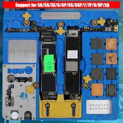 Placa de circuito soporte PCB Plantilla de estación de trabajo para iPhone XR/8 P/8/7/P/7/6SP/6 6 S/SE/6/6/5S/5 placa lógica A7-A12 chip de reparación