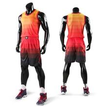Детский мужской тренировочный Комплект Джерси для баскетбола, пустые спортивные костюмы для колледжа, дышащие баскетбольные майки, форма на заказ