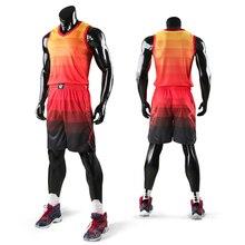 Новые детские Мужчины Возврат майка баскетбольная комплект Бланк колледжа костюмы дышащие Баскетбол форменная одежда по индивидуальному заказу