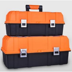 Image 2 - Caixa de plástico de ferramentas multi camada, 17 polegadas, 19 polegadas, caixa de ferramentas, ferragem, caixa de reparo multifuncional casa, carro caso do recipiente da ferramenta