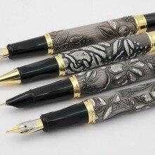 WEN Grey With Gold Dragon Clip Calligraphy Nib Fountain Pen