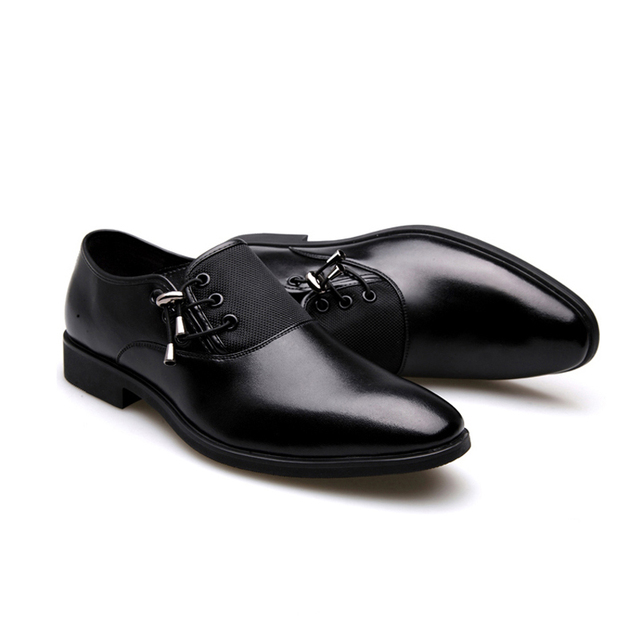 Black Classic Point Toe Oxfords For Men Shoes 3