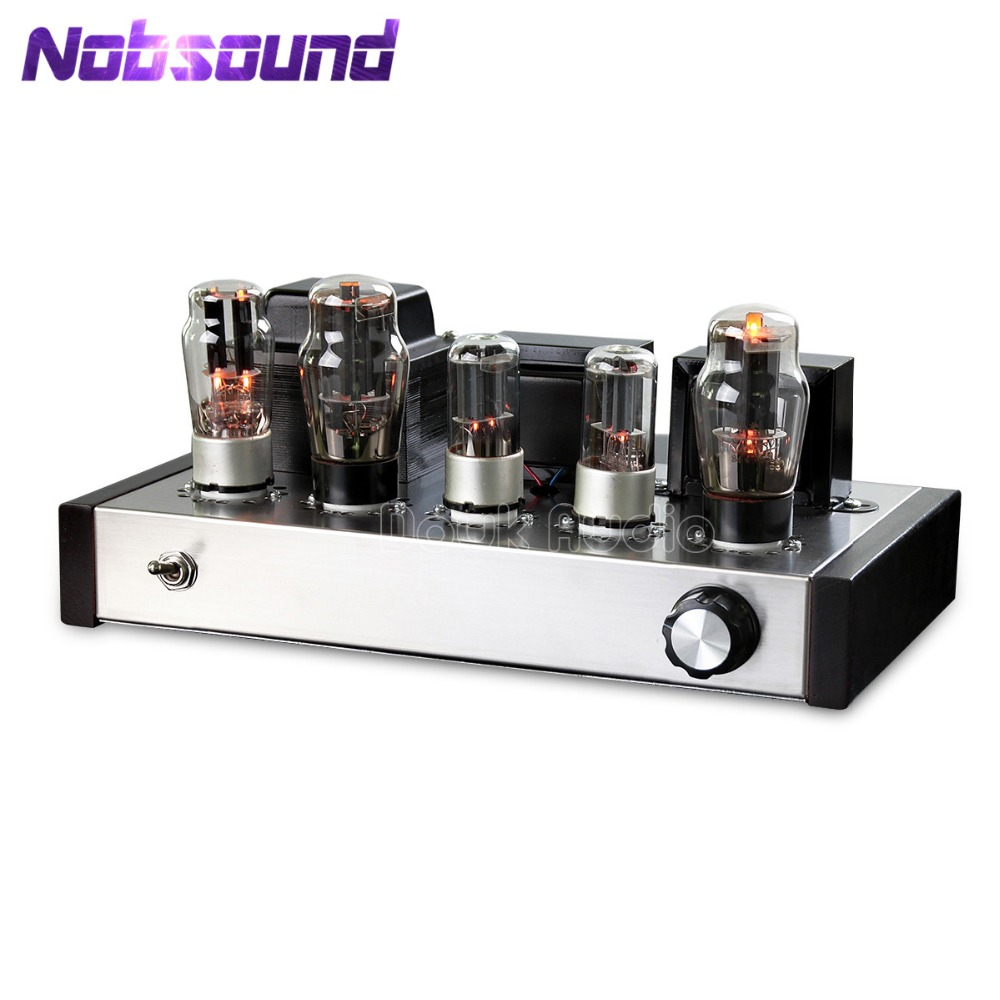 Nobsound Latest 6N8P+6P3P HIFI Single-Ended Pure Class A Tube Amplifier Vacuum Power Amp 2.0 Stereo Handmade Amp douk audio pure handmade mini 6p3p vacuum tube amplifier 2 0 channel stereo hifi class a power amp 5w 2