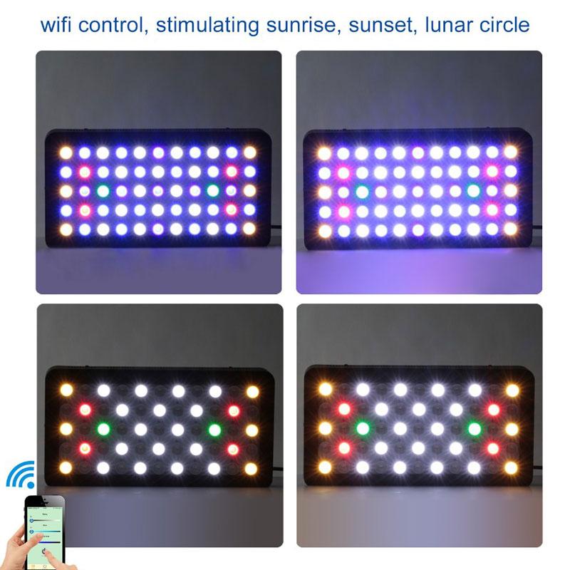 WIFI Dimmbare 165W LED Aquarium Licht Timer Beleuchtung Riff Marine Korallen Fisch Tank Voll Spektrum Meerwasser Aquarium - 4