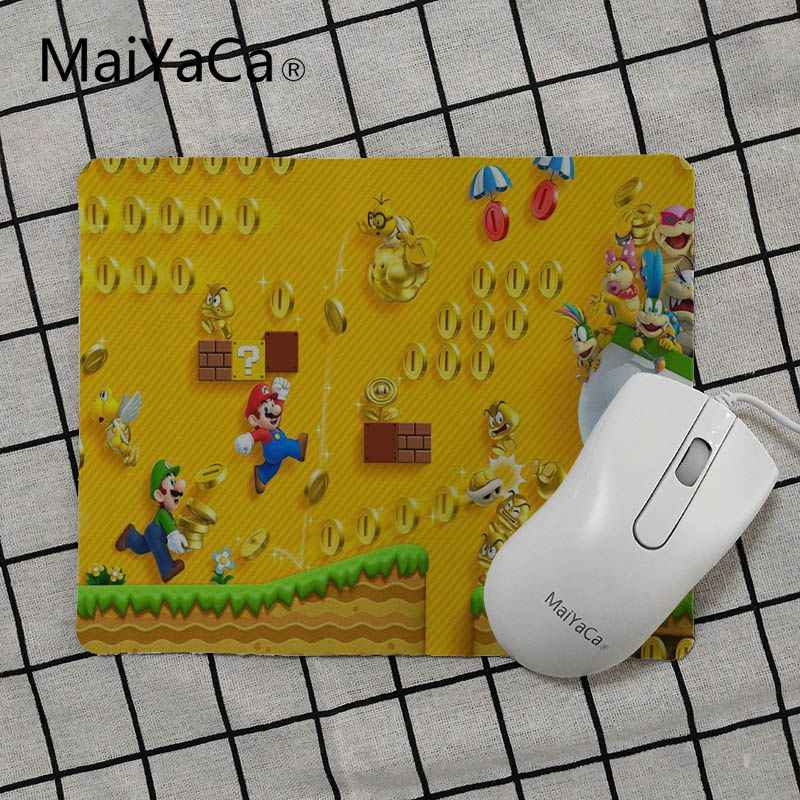 MaiYaCa  super mario bros wii Unique Desktop Pad Game Mousepad Size for 18x22cm 25x29cm Small Mousepad