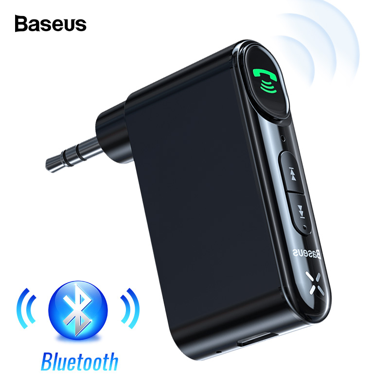 Baseus Car AUX Bluetooth 5.0 Adapter 3.5mm Jack Wireless Audio Receiver Handsfree Bluetooth Car Kit For Phone Speaker Headphone