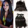Peerless Virgin hair Peruvian lace frontal with 3bundles Unprocessed Ear to ear 13x4 lace frontal Peruvian straight virgin hair