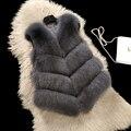 Хорошая Цена 2017 Новый Зимний Леди Натурального Меха Лисы Жилет Пальто натуральная Кожа Куртка Женщин Фокс Меховой Жилет Пальто женщин Натуральный Мех 92133