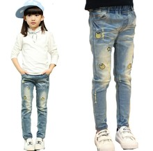 Trousers for Girls Denim Pants Super Quality Jeans Pants for Kids New Girls Trousers Autumn & Spring Children Cartoon Pants 2-8T