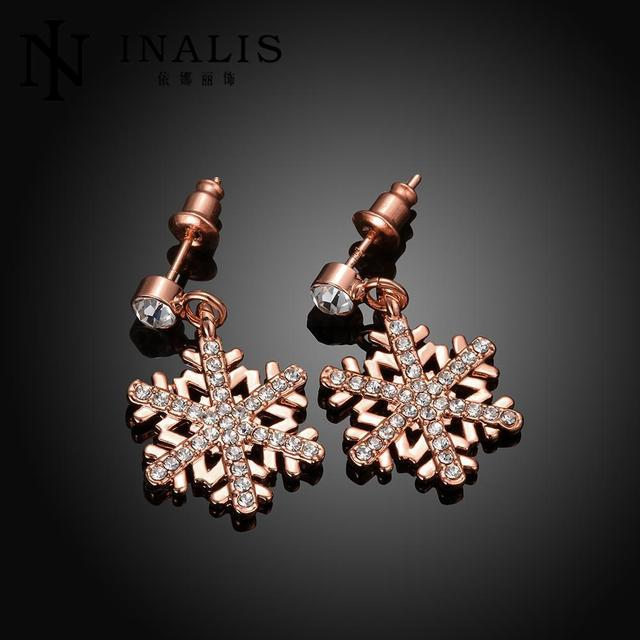 Classic Swarovski Crystal Snowflake Bijoux Statement Drop Earrings