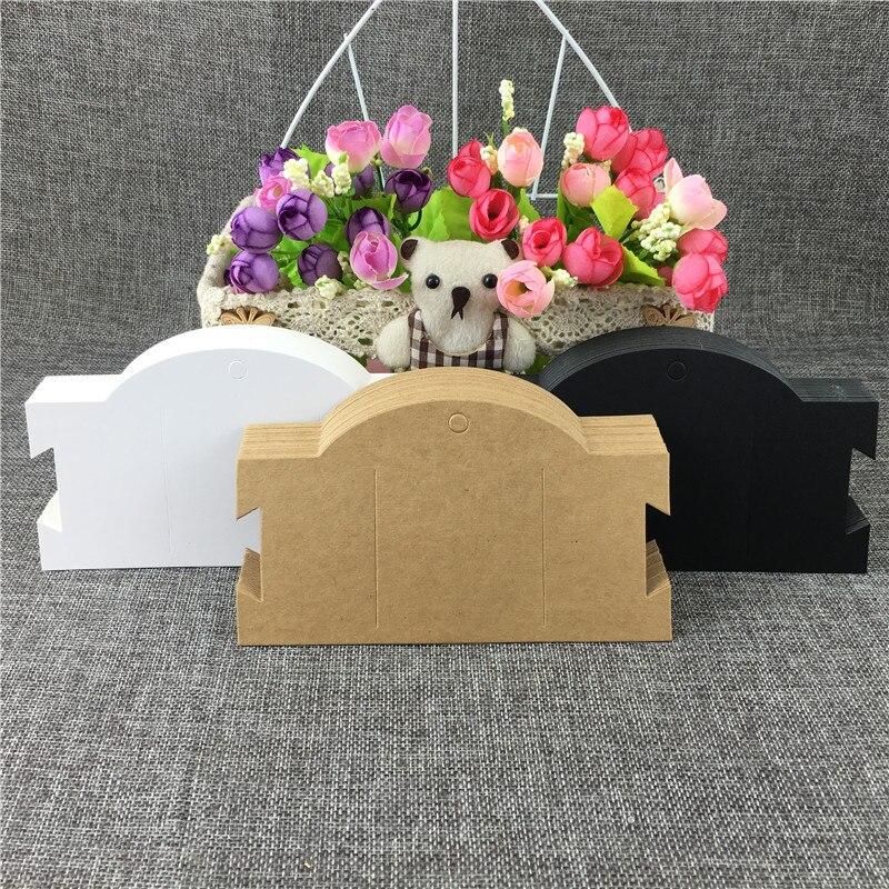 50PCS/Lot 16x9cm Jewelry Hair Clip Bracelet Choker Card Kraft Blank Displays Packaging Fashion Design Card Accept Custom Logo