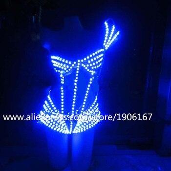 Nuovo Design Colorato Led Light Up Donne Sexy Vestito Da Sera Costume Può Cambiare 7 Colori Luminosi Coltivazione Sexy Abbigliamento Per partito