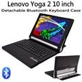 Для Lenovo Yoga Tablet 2 10 1050 1050F/L 1051 1051F/L съемная Беспроводная Bluetooth Клавиатура + PU Кожаный Чехол Стенд Смарт крышка
