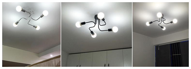 HTB1h5iLdRjTBKNjSZFDq6zVgVXa3 Retro Industrial Loft Nordic Pipe Wrought Iron Ceiling Light 4 Heads Lamp for Home Decor Restaurant Dinning Cafe Bar Room