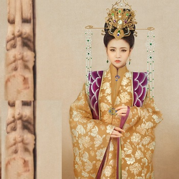 Jin Ling Jiu Tang Dynasty Empress Gorgeous Tang Suit Hanfu Costume Thematic Photography Costume Hanfu for Women Cosplay Costume you zi yin tang dynasty prince and empress costume parent child costume sets mother son stage clothing