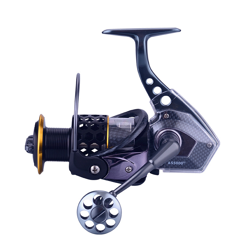 AS1000 8000 Black Hawk Spinning Wheel All metal Seawater prevention 15 2BB Sea fishing lake fishing Fishing reel in Fishing Reels from Sports Entertainment