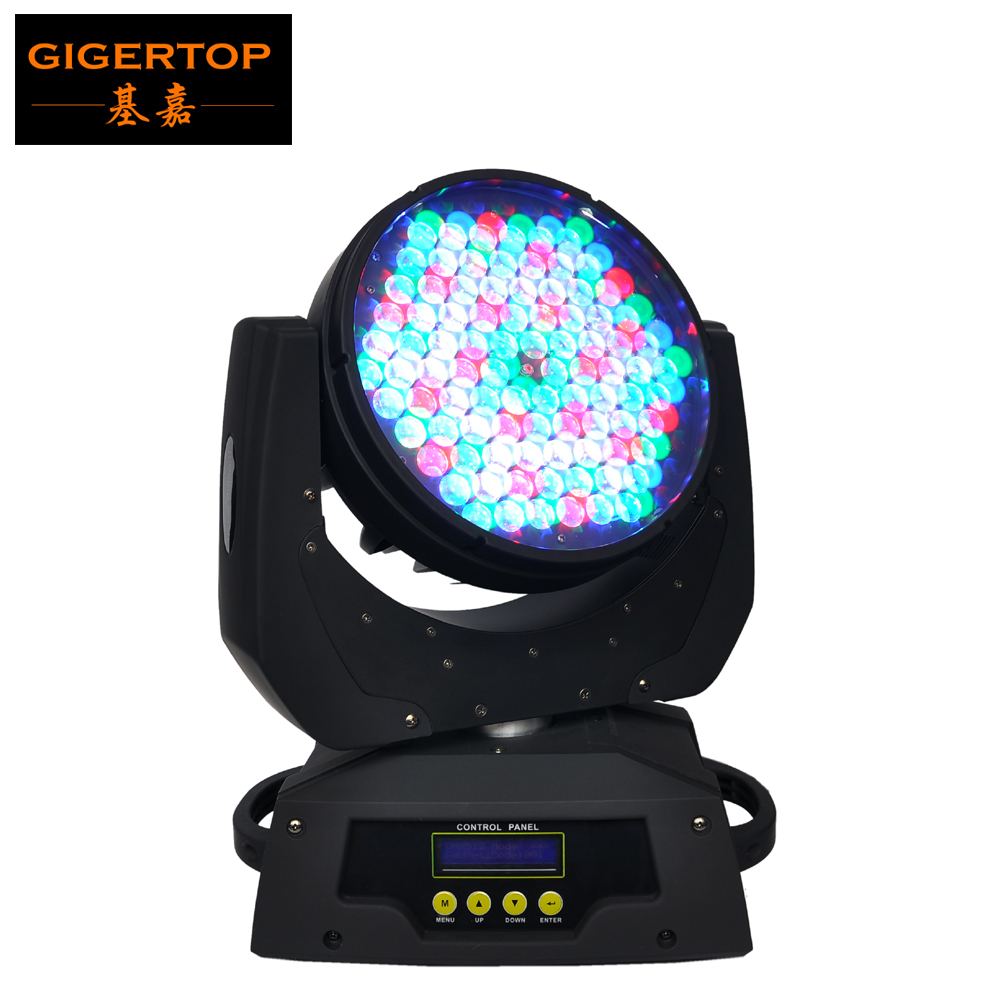 TIPTOP TP-L610 90X5W Zoom RGBW LED Moving Head Wash 16CH DMX DJ Stage Bar Club Lighting Electronic Strobe Smooth Dimmer 100-220V