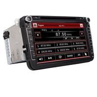 8Touch Screen 2Din VW DVD GPS Player For VW Seat Polo Bora Golf Jetta Tiguan Leon Skoda 3G GPS Bluetooth Canbus Radio Free Map