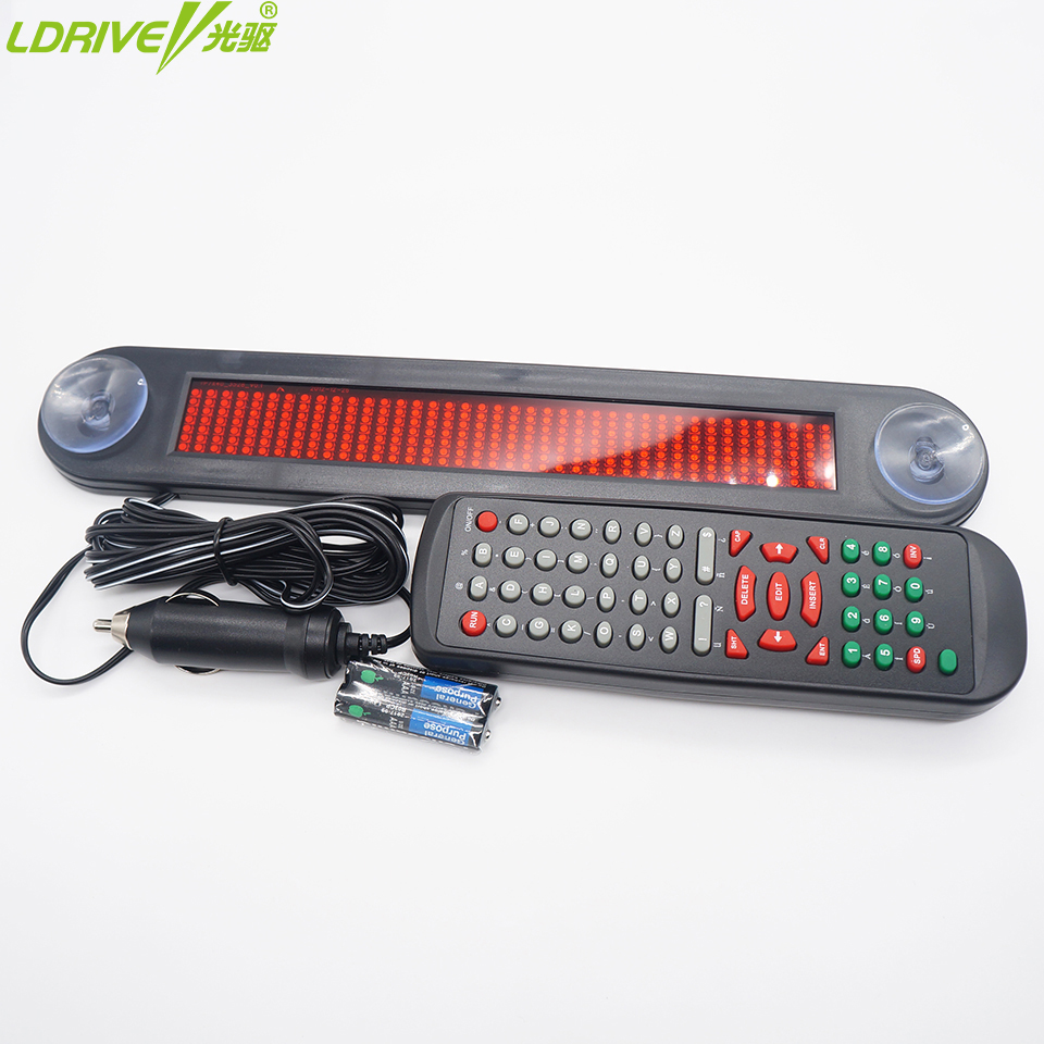 Car Auto Red LED Programmable Message Sign Scrolling Moving Display Board with Infrared Remote Controller Car LED Display Board high 8 5 inch red led desktop display board portable rechargeable usb programmable moving message store led business sign board