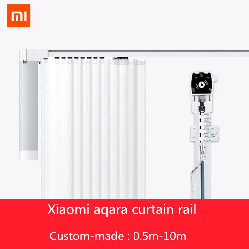 2018 nouveaux rails de rideau xiaomi mi mi jia aqara, Zigbee wifi travail avec mi home app xiaomi télécommande intelligente piste de rideau silencieux