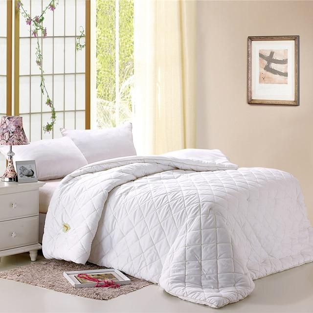 Mulberry Tussan Silk Comforter for Winter 200*230cm 3kgs Queen ... : white quilted comforter - Adamdwight.com