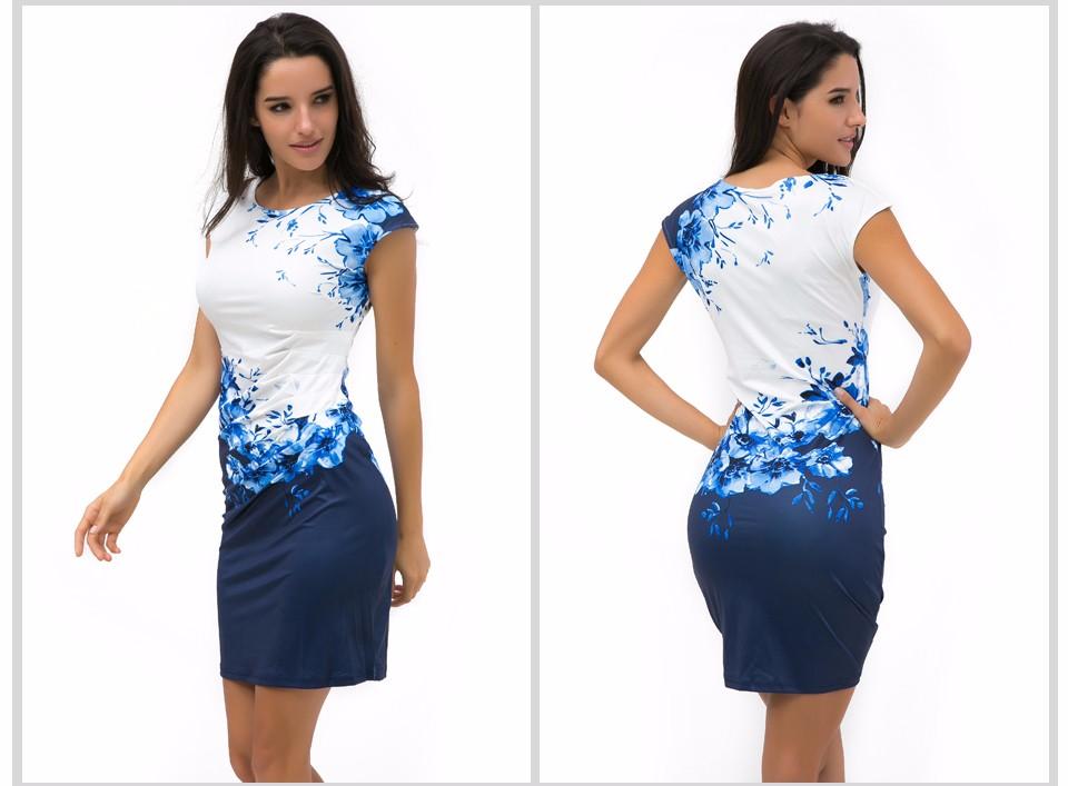 17 Kaige Nina dress Women bodycon dress plus size women clothing chic elegant sexy fashion o-neck print dresses 9026 3