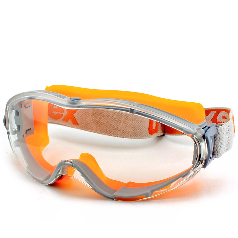 UVEX Safety Goggles Transparent PC Lens Eyeglasses High Strength Anti-impact Protective Eyewear Anti-fog Dust Sporty Goggles