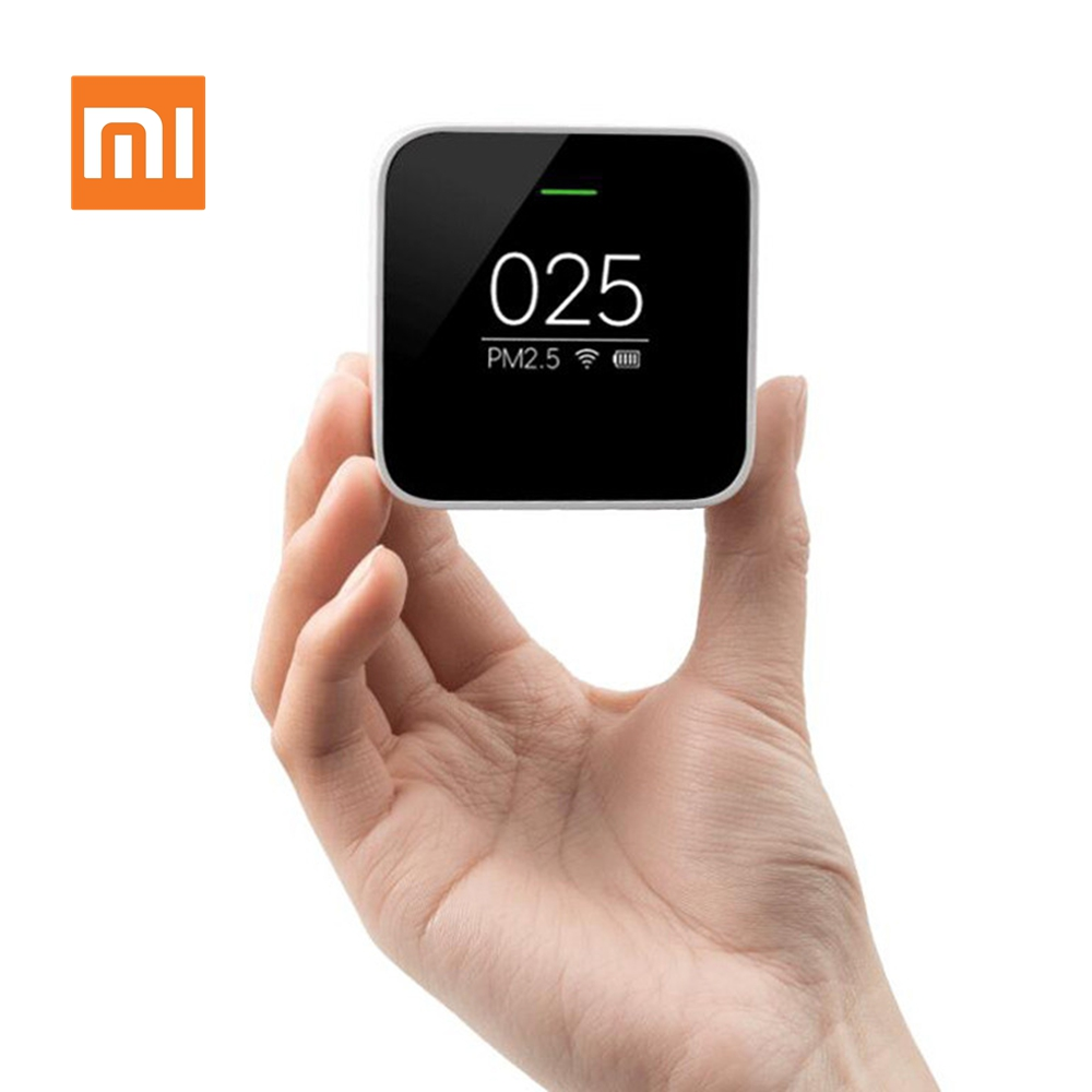 Original Xiaomi Smart PM2.5 Air Detector Mini Portable OLED Screen 2.4GHZ Use Wifi With Air Purifier Air Quality Monitoring