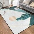 Скандинавский стиль  геометрический ковер с принтом кактуса для гостиной  спальни  Tapete ковер  журнальный столик  коврик для игры  нежный Ков...