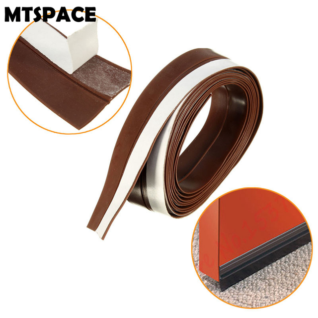 MTSPACE Slicone Rubber 25mm 2M Width Sealing Strips Silicone Rubber Bottom  Door Window Adhesive Seal Strip