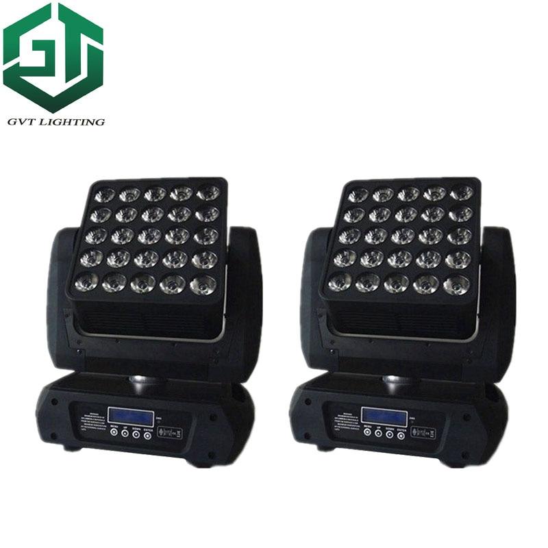 2pcslot 25*12w Matrix Light led moving head Led 5x5 Matrix Beam Moving Head stage lighting