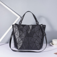 New Women Bags Luminous Handbag Plain Folding Geometric Mess