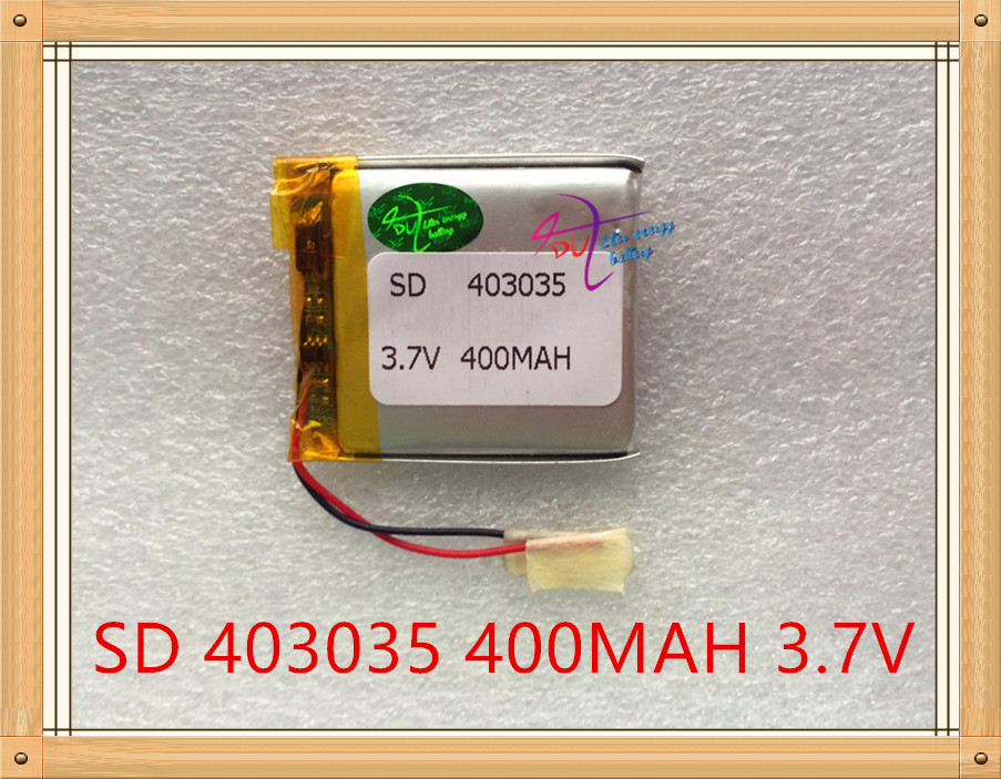 Liter energy battery <font><b>3.7V</b></font> polymer lithium battery <font><b>403035</b></font> MP4 MP3 audio electronic dog driving recorder 400MAH image