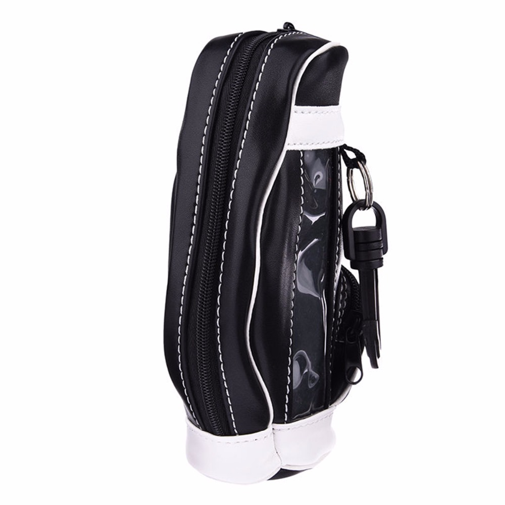 Nosii Mini Portable Golf Bag PU Leather Bag Professional Golfer Carry Bag Golf Ball Golf Tee Pouch