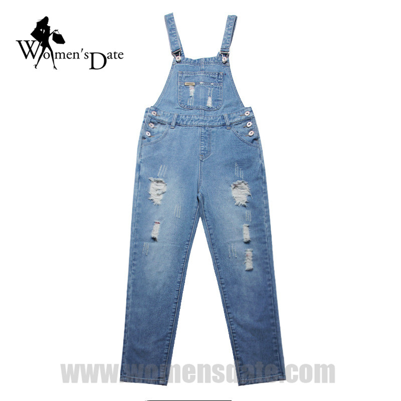 WomensDate 2017 New Arrival Jeans Overalls For Women Autumn Plus Size Denim Bib Pants Female Bib Pants Female Jeans Overalls  2016 hot sale denim overalls women new arrival autumn winter denim bib pants female jeans rompers harajuku woman jeans lx6107