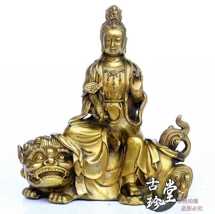 Buddismo tibetano In Ottone Rame Manjusri Manjuist RuYi Kwan-yin Bodhisattva Statua diBuddismo tibetano In Ottone Rame Manjusri Manjuist RuYi Kwan-yin Bodhisattva Statua di