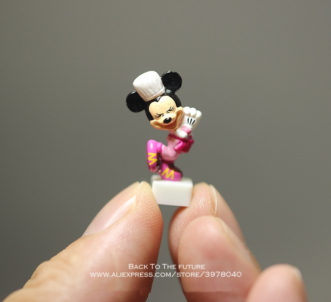 Disney Mickey Mouse Minnie 2.5cm Model Anime Doll PVC Action Figures Accessories Figurines Toys For Kids Gift Children Toy