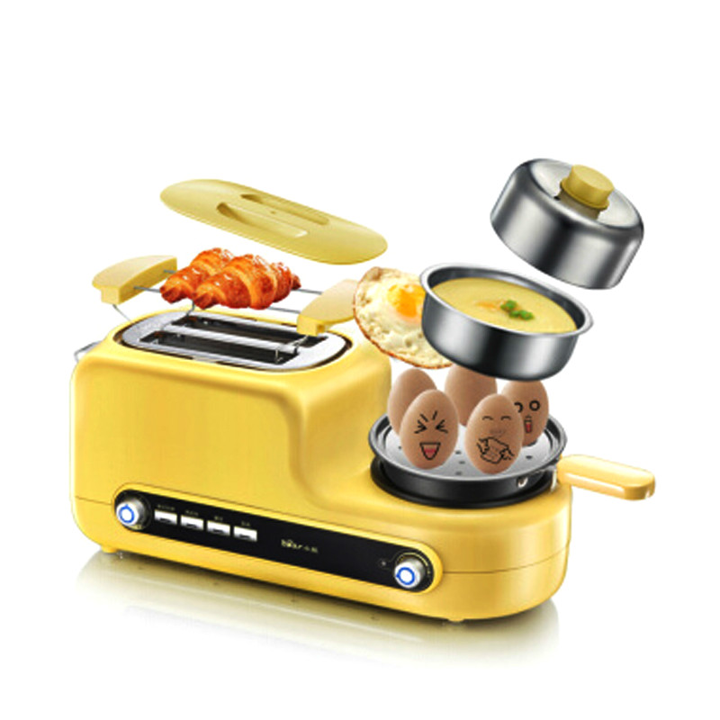 D, automatique 3 In1 petit déjeuner fabricant grille-pain FryingPan bouillie cuisson aubergine chaudière 6 réglage de vitesse avec bol en acier inoxydable D05Z2
