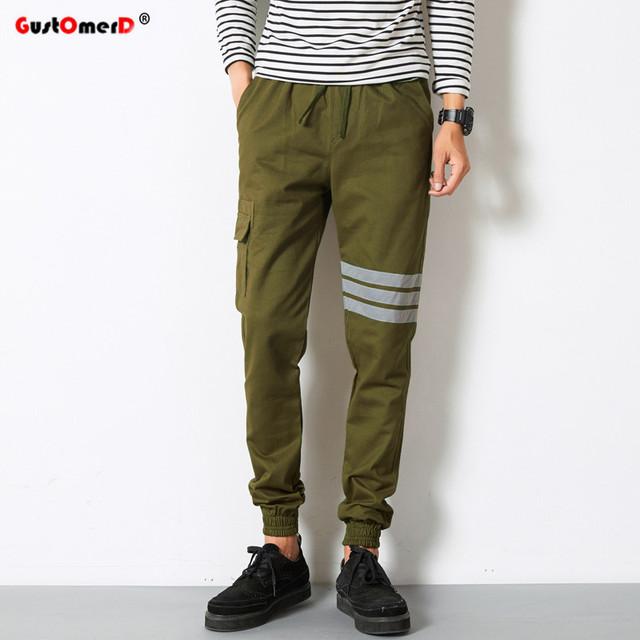 Los hombres de Moda Harlan Pantalones 2016 Otoño nueva falda impresa pantalones casuales hombres pantalones pantalones pies