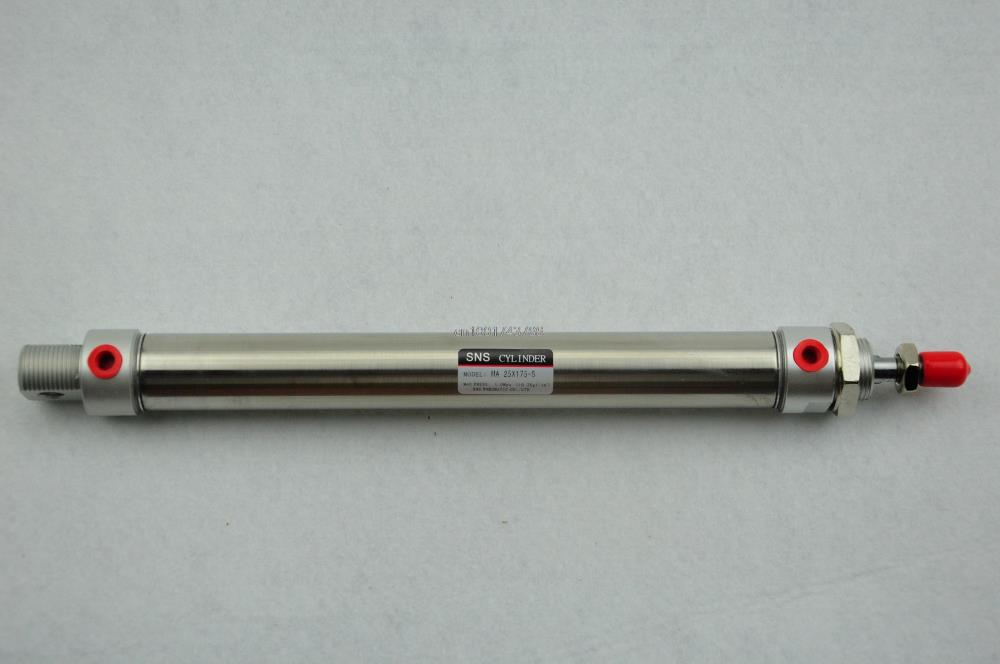 AIRTAC Type MA25-175-S Mini Pneumatic Cylinder Double Acting Bore 25mm Stroke 175mm with magnet MAD/MACJ/MSA/MTA Customized airtac type ma25 175 s mini pneumatic cylinder double acting bore 25mm stroke 175mm with magnet mad macj msa mta customized