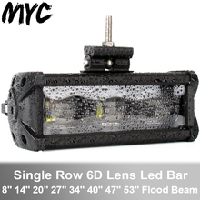 8-53 Inch 90W 120W 180W 6D Lens Led Bar Light For Car SUV 4x4 Off Road 4WD Truck ATV Trailer 12V 24V Work Lights