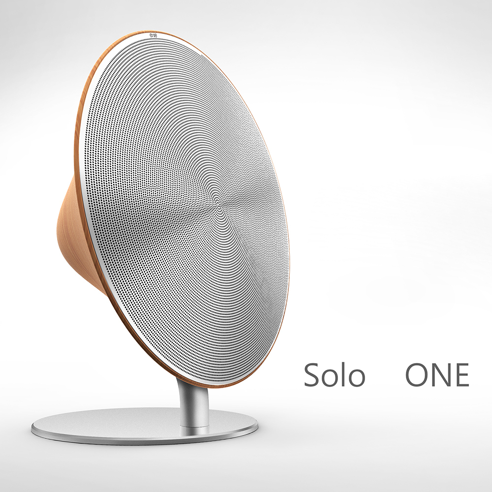Original Solo One 3d Wood Surround Speakers Portable Mini Bluetooth Speaker Outdoor Loudspeaker
