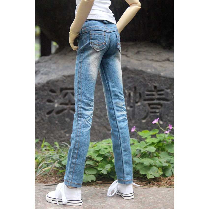 Light Blue Jeans Pants Trousers Outfits Clothing For 1/4 Male 1/3 SD17 70cm24